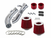 09-16 Nissan 370Z / 08-11 Infiniti G37 3.7L V6 Dual Heat-Shield Air Intake - Red