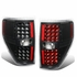 09-14 Ford F150 Pair Left + Right Full LED Tail Lights Brake Lamps (Black / Clear)