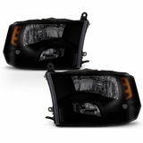 09-16 Dodge Ram [Quad Headlights] Style Replacement Headlights - Black Smoked
