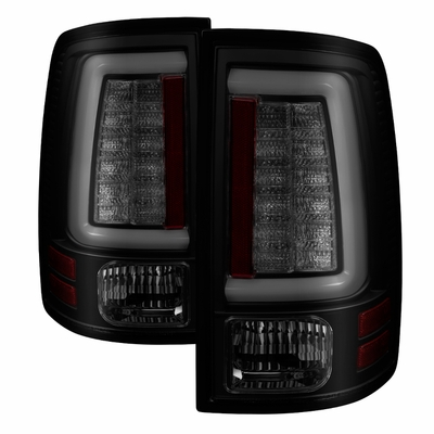 09-17 Dodge RAM pickup C-Shaped LED BAR Tail Lights - Black Smoked