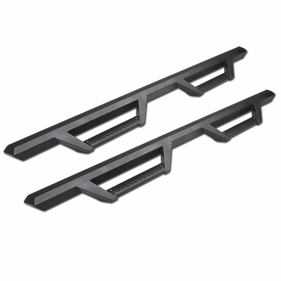 09-18 Ram 1500 Quad/Extended Cab Matte Blk Drop Step Side Nerf Bars Rail Boards
