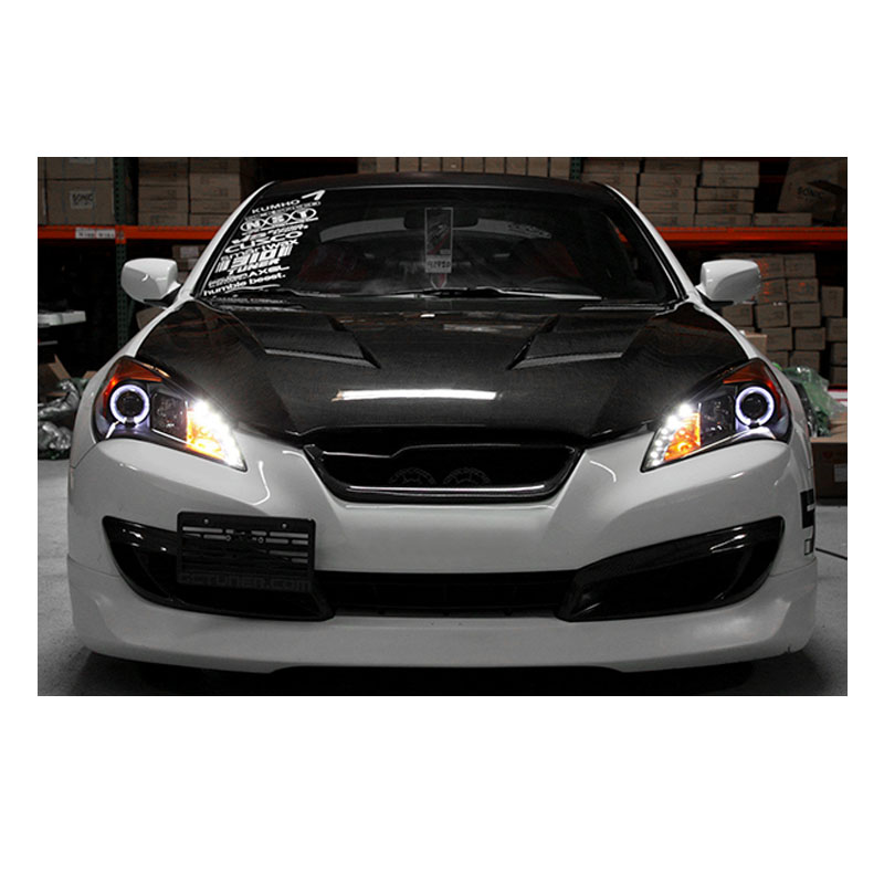 10 12 hyundai genesis angel eye halo led drl projector headlights black 75 12 hyundai genesis angel eye halo led drl projector headlights Genesis Coupe LED Tail Lights at soozxer.org