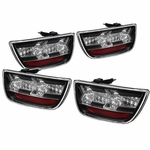 2010-2012 Chevy Camaro Euro Style LED Tail Lights - Black ALT-YD-CCAM2010-LED-BK By Spyder