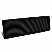 10-14 VW Golf / Beetle / Jetta / Passat / Rabbit Reusable & Washable Replacement Engine High Flow Drop-in Air Filter (Black)