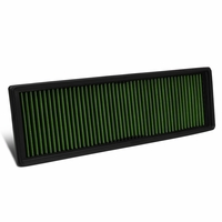 10-14 VW Golf / Beetle / Jetta / Passat / Rabbit Reusable & Washable Replacement Engine High Flow Drop-in Air Filter (Green)