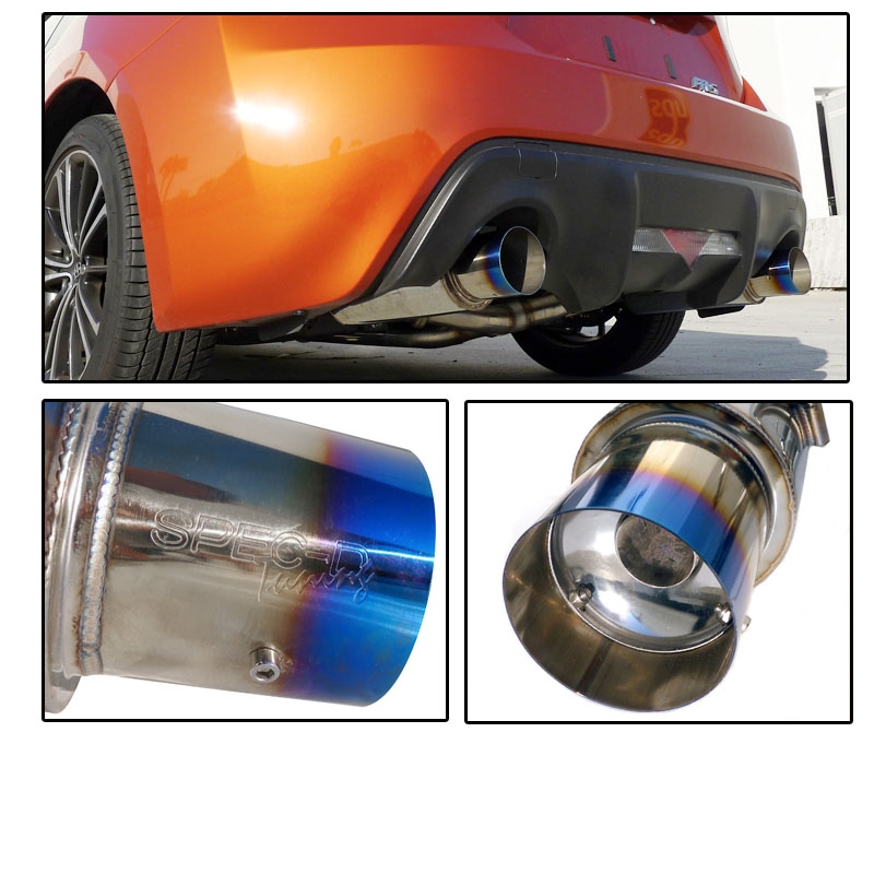 spec d 2012 16 scion frs subaru brz dual roll tip catback exhaust burn muffler tip. Black Bedroom Furniture Sets. Home Design Ideas