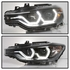 HID Xenon + 12-15 BMW 3-Series F30 Halo LED DRL Projector Headlights - Black