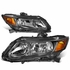 12-15 Honda Civic Crystal Headlights - Black Amber