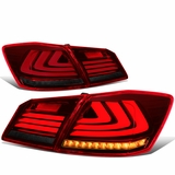 13-15 Honda Accord 4DR Sedan 3D LED Bar Tail Light - (Red/Smoked)