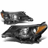 13-15 Toyota RAV4 OE-Style Replace Projector Headlights - Black / Amber