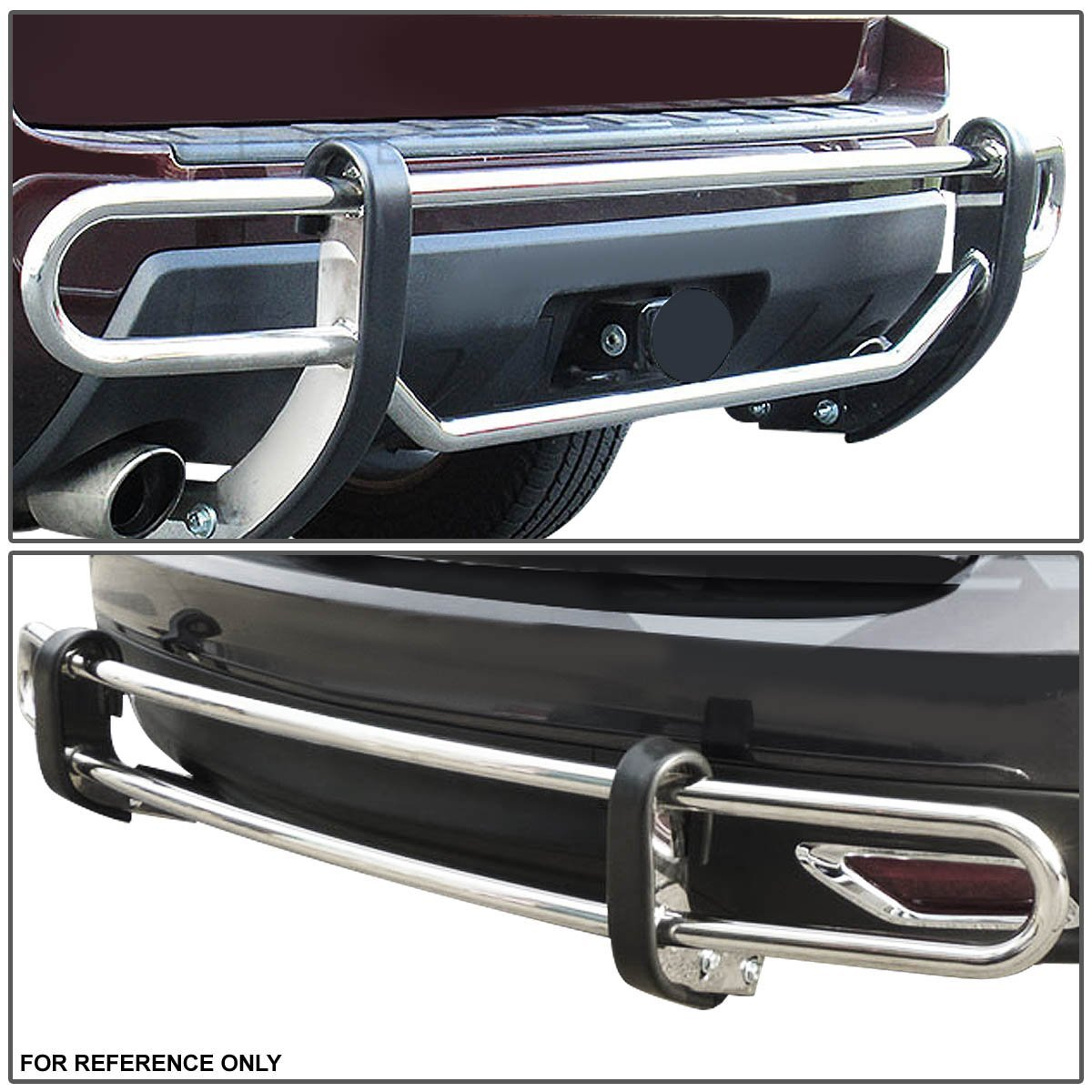 13 16 Hyundai Santa Fe Stainless Steel Double Bar Rear