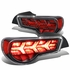 13-17 Scion FRS / Subaru BRZ LED Arrow Sequential Tail Light (Black Housing / Clear Lens / Red Signal)