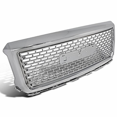 14-15 GMC Sierra 1500 2500 3500HD Chrome Round Style Front Upper Hood Grille