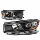 14-16 Toyota Highlander Replace Projector Headlights - Black Amber