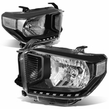 14-17 Toyota Tundra OE-Style Replacement Headlights - Black Clear