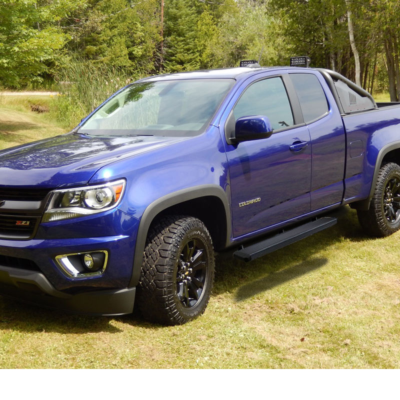 """4 Side Step For 2015 18 Chevy Colorado Gmc Canyon Crew: 15-17 Chevy Colorado / GMC Canyon Double Cab 5"""" Black"""