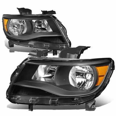 15-17 Chevy Colorado Replacement Crystal Headlights - Black / Amber