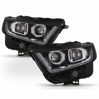 15-17 Ford Edge Sequential LED Signal / DRL Projector Headlights - Chrome