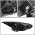 15-17 Ford Focus Dual U-HALO DRL + LED Turn Signal Projector Headlight (Smoked Lens & Clear Signal)