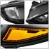 15-17 Ford Focus [Halogen Model] Replace Crystal Headlights - Black / Amber