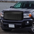 15-18 GMC Canyon ABS Denali Style Front Bumper/Hood Grille/Grill (Black)