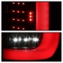 17-18 Ford F250 F350 SuperDuty LED Light Tube Tail Lights - Black