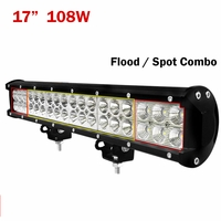 "17"" inch 108W LED Light Bar Flood Spot Combo Offroad 4WD SUV"
