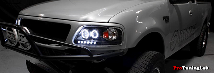 Ford F Halo Projector Headlights Are Made To Outperform The Factory Headlights Our Projector Headlights Line Up Offer Aggressive Styling For Your F