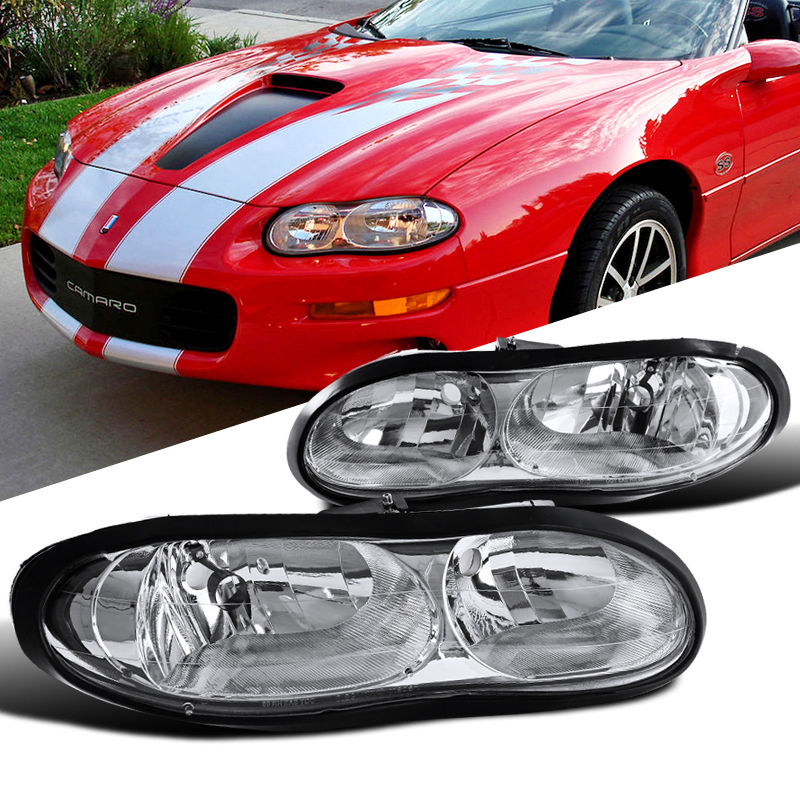 1998 2002 chevy camaro z28 replacement crystal headlights. Black Bedroom Furniture Sets. Home Design Ideas