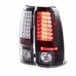 1999-2002 Chevy Silverado / 1999-2003 GMC Sierra LED Tail Lights - Black ALT-YD-CS99-LED-BK By Spyder