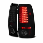 1999-2002 Chevy Silverado / 1999-2003 GMC Sierra LED Tail Lights - Black Smoked ALT-YD-CS99-LED-BSM By Spyder