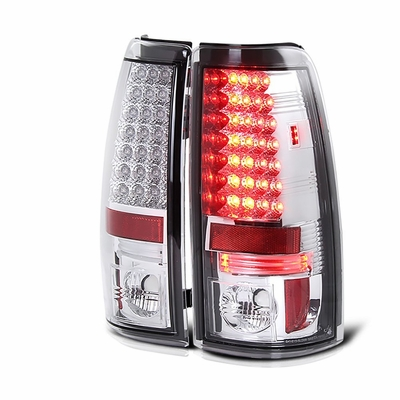 1999-2002 Chevy Silverado / 1999-2003 GMC Sierra LED Tail Lights - Chrome ALT-YD-CS99-LED-C By Spyder