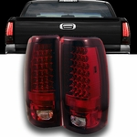 1999-2002 Chevy Silverado / 1999-2003 GMC Sierra LED Tail Lights - Red & Clear ALT-YD-CS99-LED-RC By Spyder