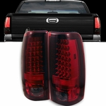 1999-2002 Chevy Silverado / 1999-2003 GMC Sierra LED Tail Lights - Red & Smoked ALT-YD-CS99-LED-RS By Spyder