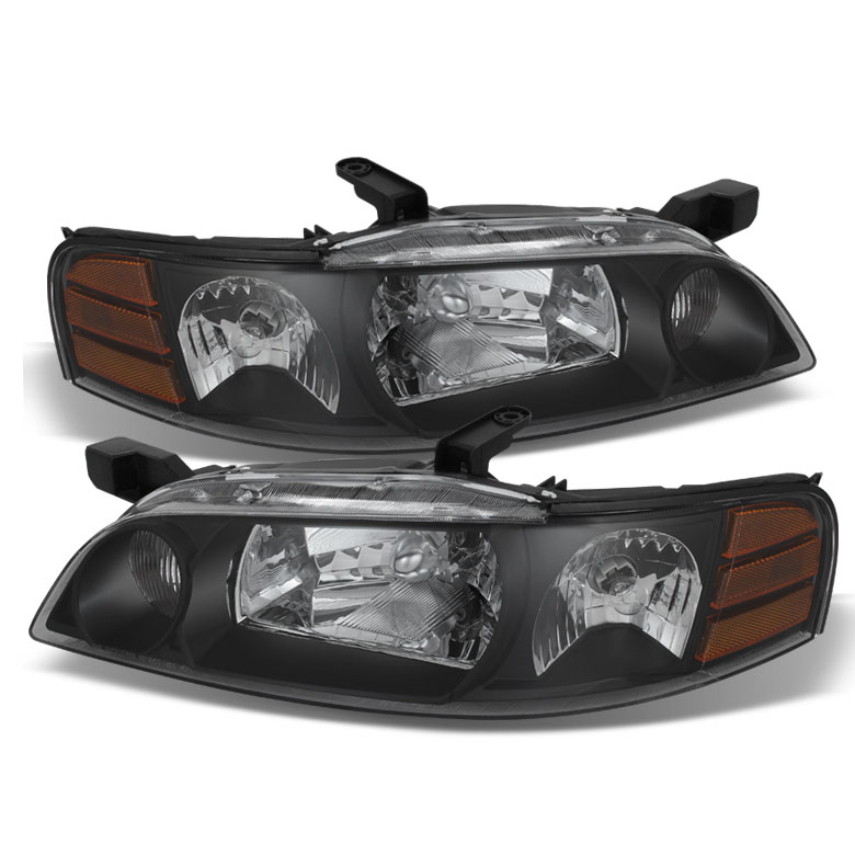 2000 2001 Nissan Altima Replacement Crystal Headlights Black