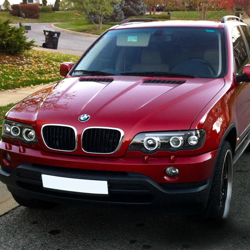 2001 2003 bmw x5 e53 dual halo led projector headlights. Black Bedroom Furniture Sets. Home Design Ideas
