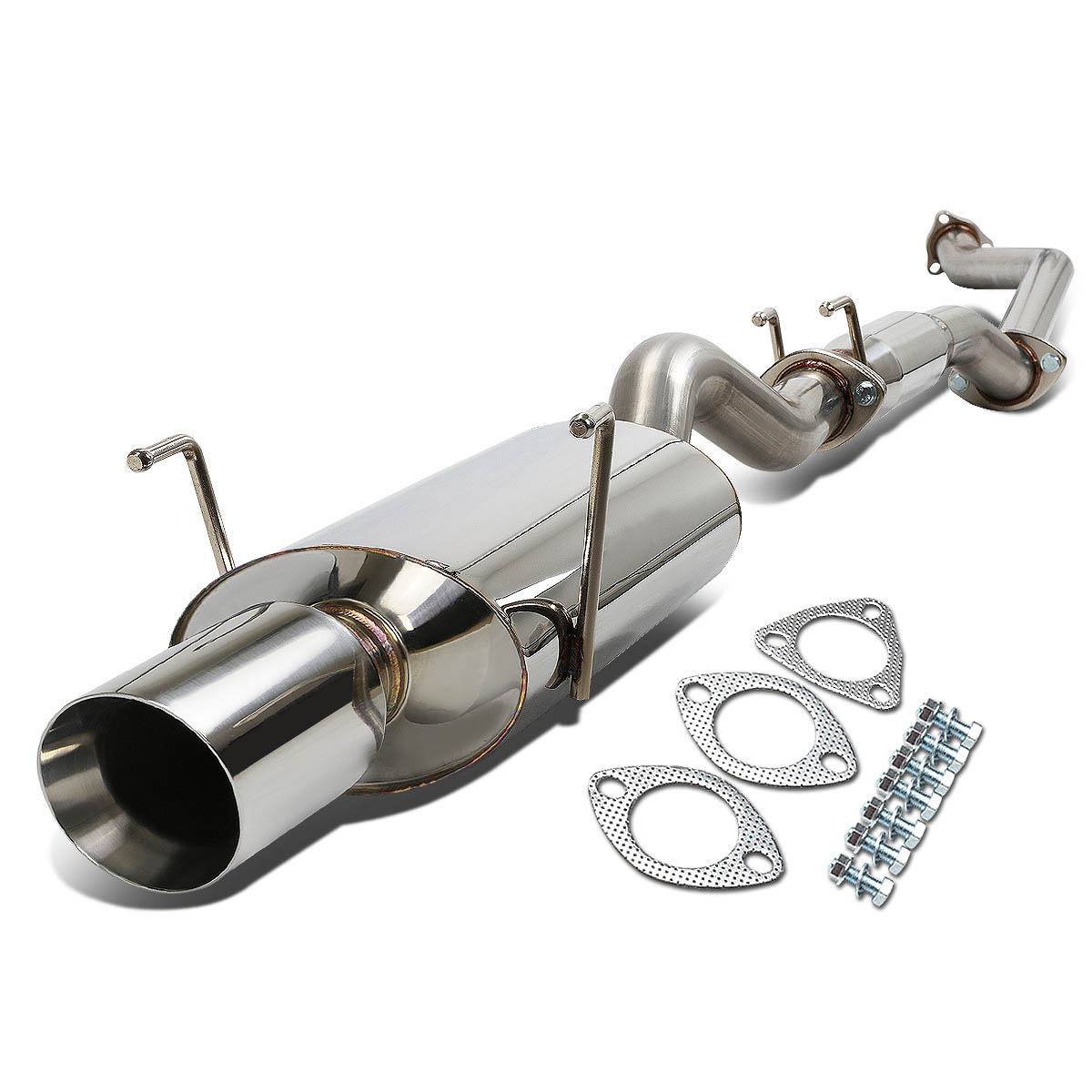 "02-06 Acura RSX Type-S Stianless Steel 4"" Tip Oval Muffler"
