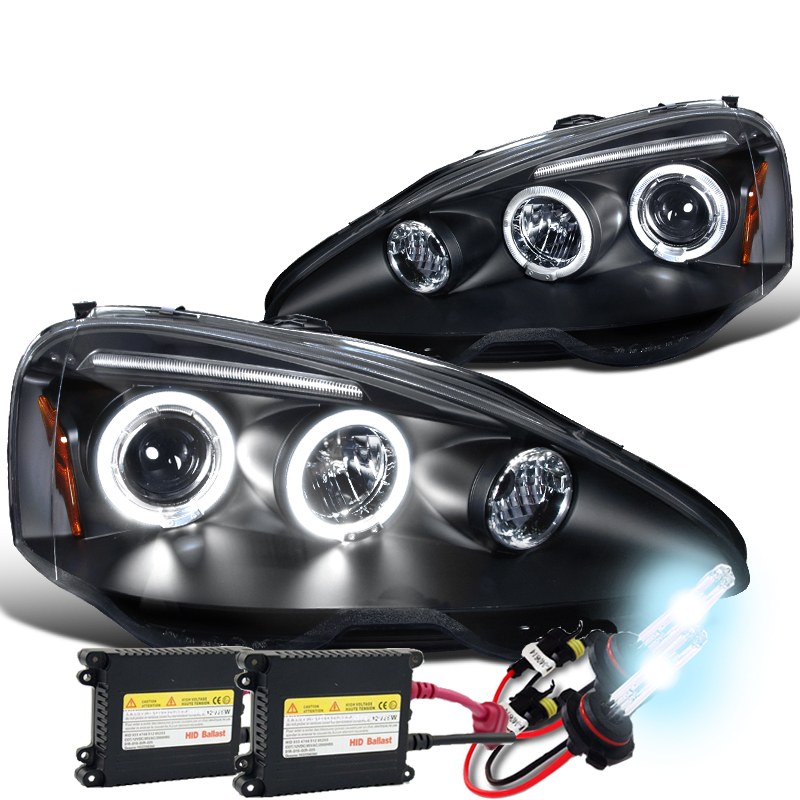 02-04 Acura RSX Dual Halo & LED Strip Projector Headlights