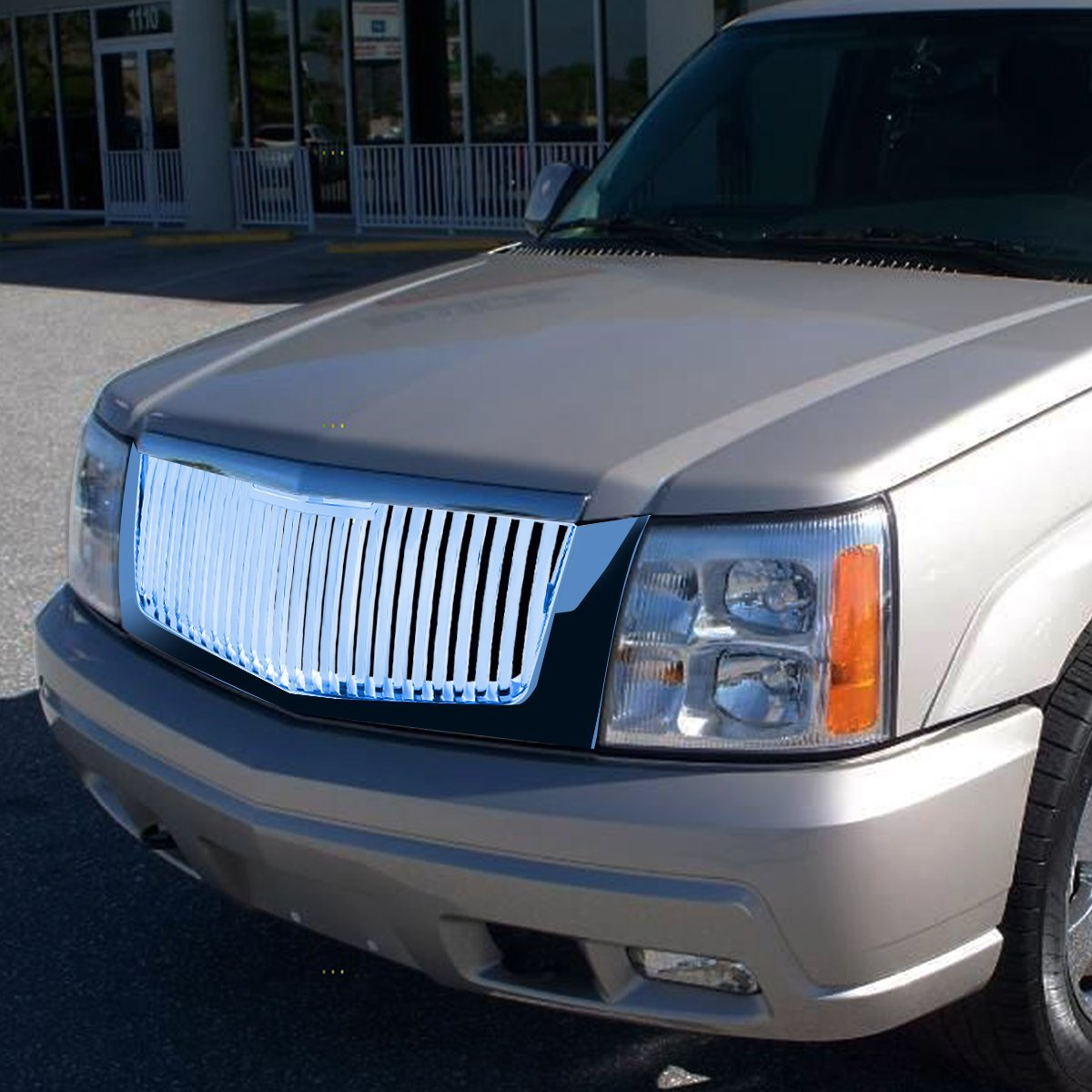 2002 2006 Cadillac Escalade Vertical Style Front Grille Grill Chrome Ext Wiring Harness