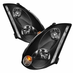 2003-2005 Infiniti G35 2DR Coupe [D2R] Replacement Crystal Headlights - Black