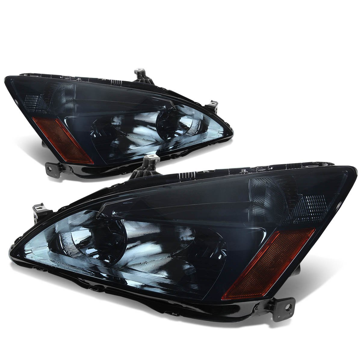 honda accord replacement crystal headlights smoked