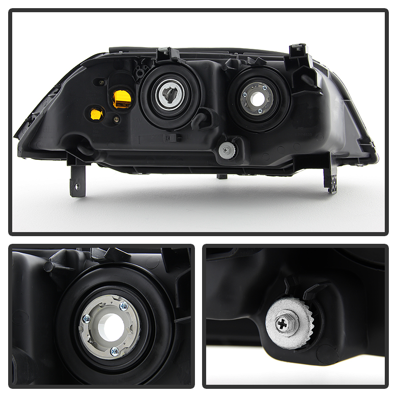 Acura MDX Replacement Projector Headlights Black - 2004 acura mdx headlights