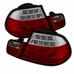 2004-2006 BMW 3-Series E46 Coupe LED Light-Tube Tail Light  - Red Clear