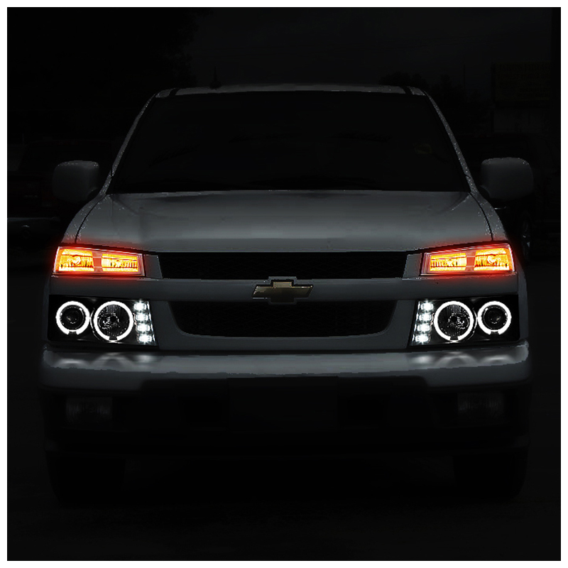 2012 Chevy Colorado GMC Canyon Angel Eye Halo Led Projector
