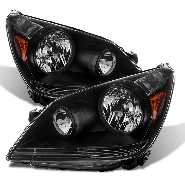 2005 2007 Honda Odyssey Replacement Crystal Headlights Black
