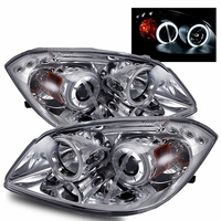 2005-2010 Chevy Cobalt / Pontiac G5 CCFL Angel Eye Halo Projector Headlights - Chrome