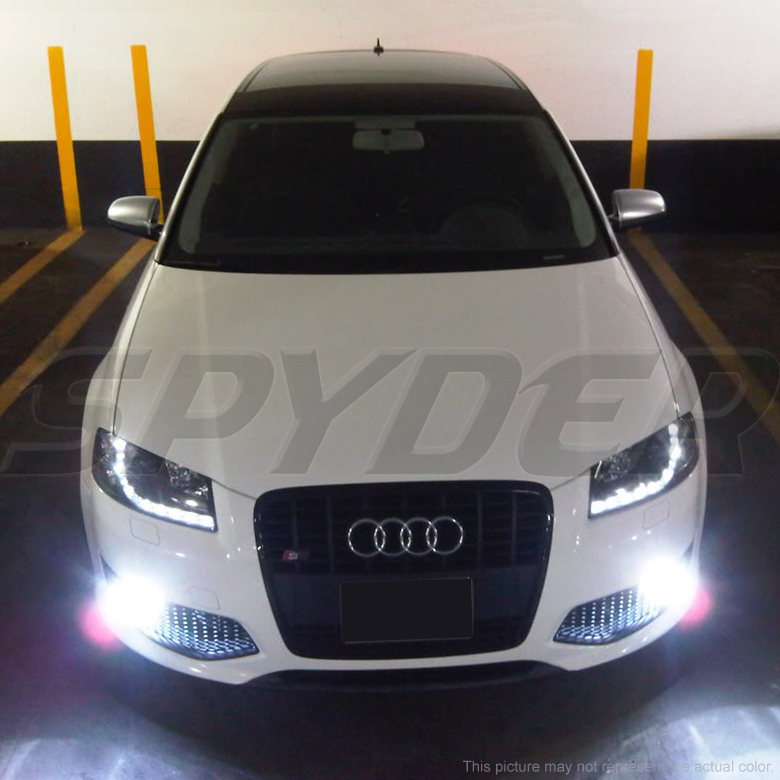 2006-2008 Audi A3 R8 Style LED DRL Projector Headlights - Black