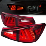 2006-2008 Lexus IS250 IS350 Performance LED Tail Lights - Red
