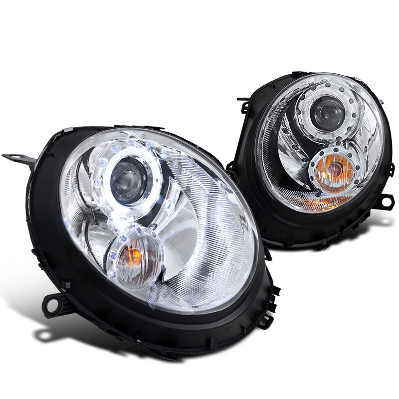 07 11 mini cooper euro halo projector headlights chrome rh protuninglab com