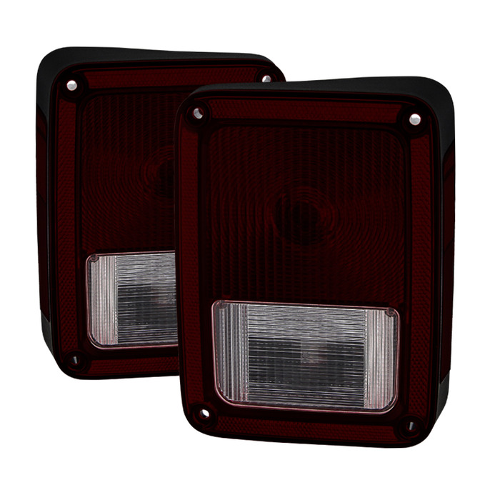 2007 2013 Jeep Wrangler Oem Style Tail Lights Red Smoked